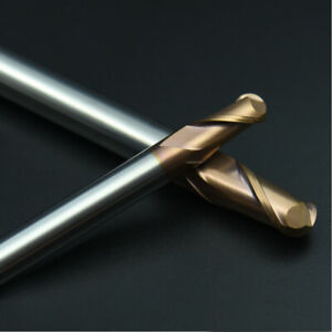 HRC55 SOLID CARBIDE BALL NOSE END MILL R1.5-R10MM ALTiN COATED LONG SERIES