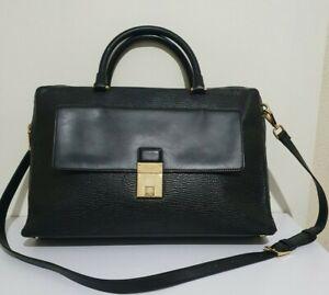 Ted Baker large black leather laptop bag