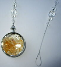 SUNCATCHER WITH CITRINE CRYSTALS FOR ABUNDANCE, HAPPINESS & LIGHT GIFT BOXED