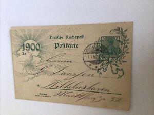 Deutsche Reichspost, 2 Postkarten/Ganzsachen zur Jahrhundertwende 1900, si Fotos