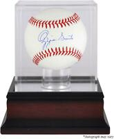 Ozzie Smith St. Louis Cardinals Baseball and Mahogany Baseball Display Case