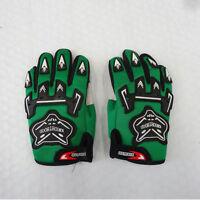 Green Kids Children Motorcycle Gloves Motorbike Gear Motorcross S-M-L Size