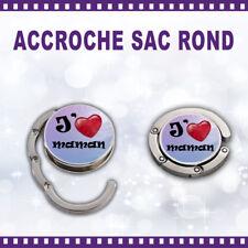 Accroche-sac rond personnalisé J'AIME MAMAN - St Valentin sac cadeau