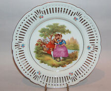 8031: Vintage Schwarzenhammer Germany LARGE Cabinet Plate Reticulated Charger
