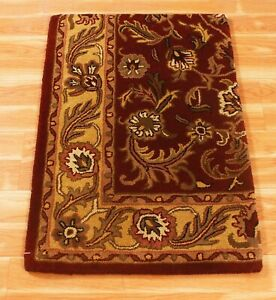 Hand Tufted Handmade Oriental New Indian 2x3 ft Rugs Wool Area Carpet