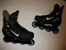 Nike Zoom Air Inline Roller Hockey Skates,Black Edition Size 10 Fantastic Shape