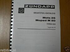 Z0038 ZUNDAPP---ERSATZTEIL-KATALOG      MOFA 25 + MOPED M50---TYPEN 434-MODEL