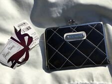 5c40f67b1fa Steve Madden Women s Wallet Black Quilted Organizer Snap Close Top
