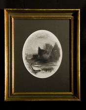 ANTIQUE (1820-30) COLLECTOR'S ENGRAVING  BY J.H. KERNOT: A RUINED ABBEY
