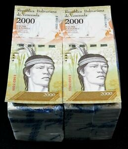 2017 Venezuela $2,000 Bolivares UNC 2 Bricks 2000 Pcs New Unc SKU514