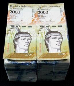2017 Venezuela $2,000 Bolivares UNC 2 Bricks 2000 Pcs New Unc SKU509