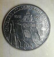 Repubblica Italiana 100 lire 1981 Centenario Accademia Livorno FDC