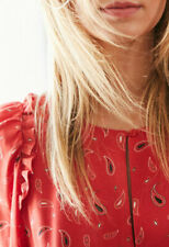Claudie Pierlot Ravie Vestido Rojo Talla 40-PVP 185 €