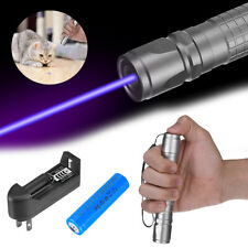 900miles Blue Purple 405nm Laser Pointer Pen Visible Beam Battery Charger Us