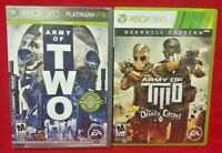 Army of Two 2 + Devil's Cartel MicroSoft XBOX 360 Game Lot Tested Works Complete