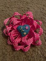 Handmade Heart Flower Hair Clip