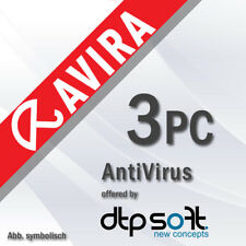 Avira Antivirus Pro 3 PC 2019 VOLLVERSION 3 GERÄTE 2018 DE EU