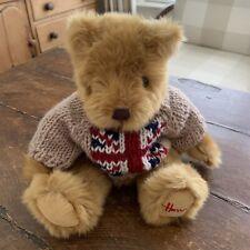 New ListingHarrods~ United Kingdom Teddy Bear w Uk Flag Sweater~ Euc