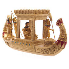 Golden Ancient Egyptian Royal Queen Canopy Boat Office Interior Decoration Gift
