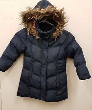 Young Dimension Winter Faux Fur Padded Puffer Parka Blue Coat Size 5-6 Years
