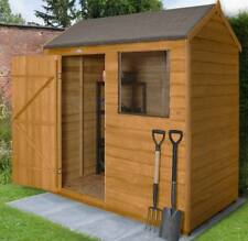 6x4 Garden Shed Single Door Apex Wooden Sheds Overlap Clad 6ft X 4ft Un