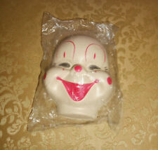 Vintage Plastic Clown Doll Mask Craft Making (12)