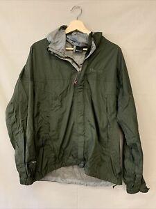 Marmot Forest Green Men's Windbreaker Zip Up Jacket Medium Hooded