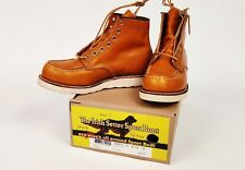 Red Wing 9875 Moc Toe, RARE Gold Russet Sequoia, 8.5D, US 8.5, Deadstock, MINT