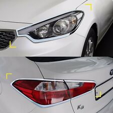 Chrome Head lamp Cover Rear Tail Light Molding for KIA 2013-2017 Cerato Forte K3
