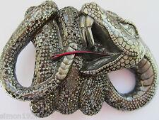 Snake belt buckle rattlesnake.