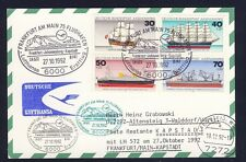 52908) LH FF Frankfurt - Kapstadt 27.10.92, Karte Satz Jugend Schiffe