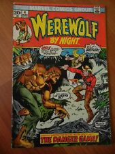 1973 MARVEL COMICS: Werewolf by Night- The Danger Game Vol 1, # 4 March COMIC NR