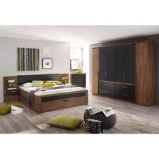 Schlafzimmer Set Bernau Bett Nako Kleiderschrank Eiche Stirling grau basalt