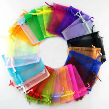 100xPremium Organza Wedding Favour Xmas Gift Bags Jewellery Candy Pouches 7x9cm