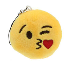 Emoji Smiley Emoticon Throwing Kiss Key Chain Toy Gift Pendant Bag Accessory Y1