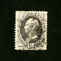 US Stamps # 151 XF Large Used Scott Value $210.00