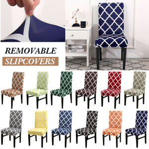 Soft Elastic Dining Chair Covers Kitchen Slipcovers Chair Protective Home Covers