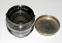 EXC! Carl Zeiss Sonnar 50 mm 1.5 Prime Lens Contax rangefinders