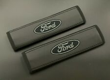 Ford Soft Leather Black Seat Belt Shoulder Pads Covers 2pcs