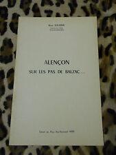 BROCHURE - ALENCON, sur les pas de Balzac... - René Jouanne, 1970