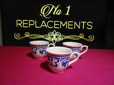 3 x Masons Blue Batik Pattern Coffee Cups Brand New 5.5cm High