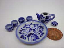 1:12 Scale Hand Painted Ceramic Chinese Tea Set  Dolls House Miniature