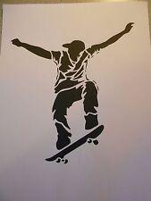 Schablone Skateboarder1 auf A4