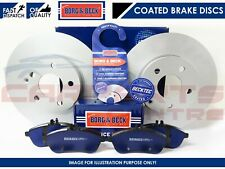 FOR SEAT LEON 2.0 TDi FR 2005- REAR BORG & BECK BRAKE DISCS PADS SET 282mm