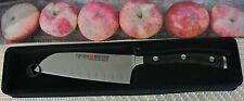 "wusthof classic ikon santoku knife black PEtec # 4172-/14cm5"" solingen germany"