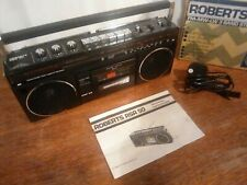 Roberts RSR 50 radio recorder. Excellent condition with box and instructions