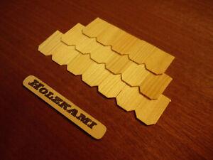 50 Holzschindel  Dachschindeln Kiefer.  Diverse Maße. 1mm stark   NEU !
