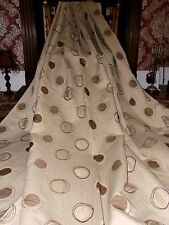 """HUGE HEAVY CREAM TAPESTRY EYELET CIRCULAR LINED CURTAINS 72""""X 90"""" CONTEMPORARY"""""""