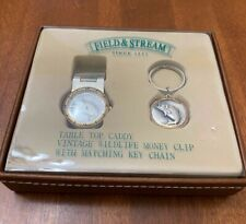 FIELD & STREAM WATCH-Money Clip-Key Chain TABLE TOP CADDY GIFT SET- NEW IN BOX