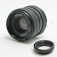 25mm f/1.4 C Mount CCTV TV Lens body black for NEX EOS Micro 4/3 FX N1 M + macro